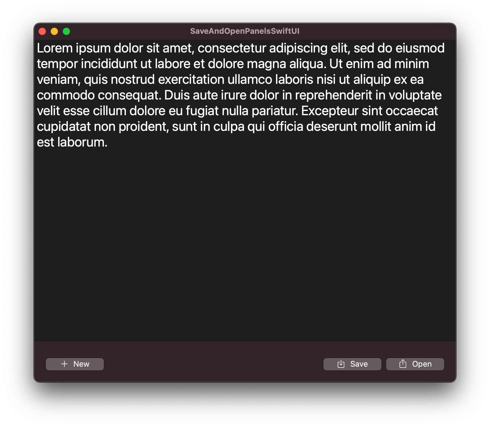 Simple editor macOS app made in SwiftUI