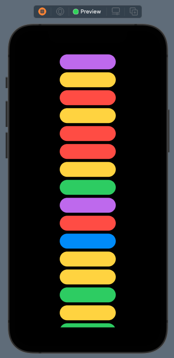 Simple vertical grid center aligned