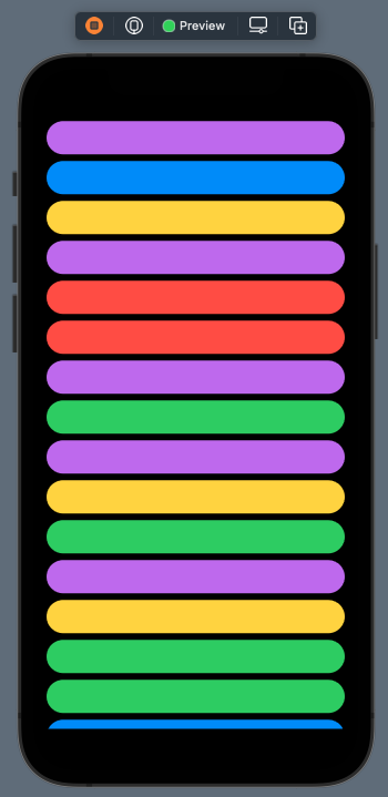 Vertical grid with one column and flexible size