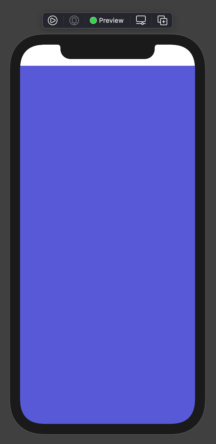 Color ignoring bottom safe area edge only