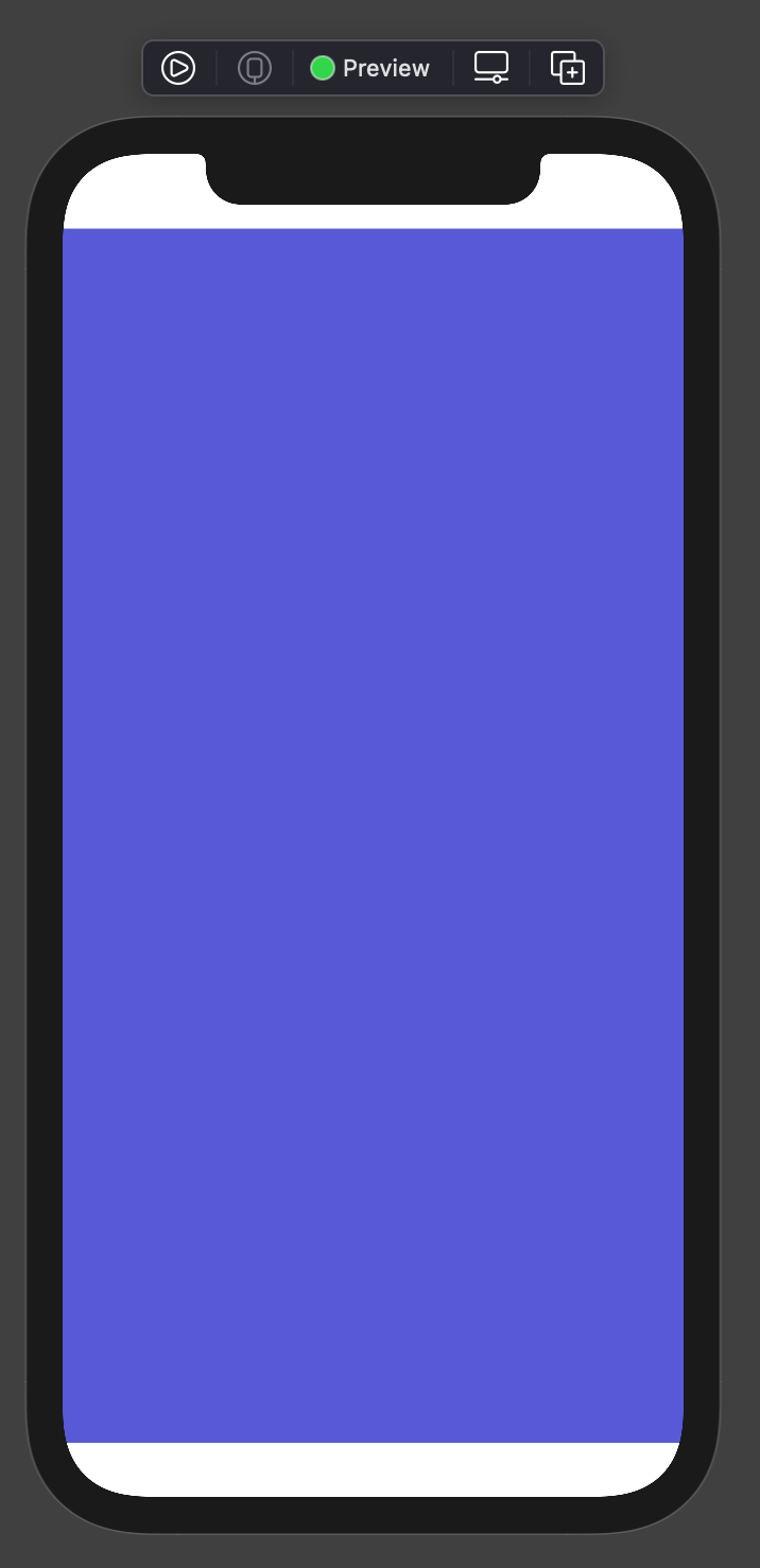 Color view with default safe area