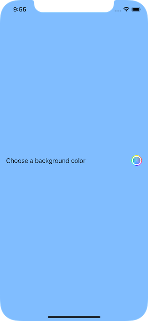 Color picker with label and color well