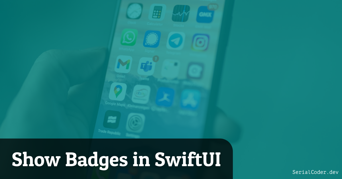 Show Badges in SwiftUI