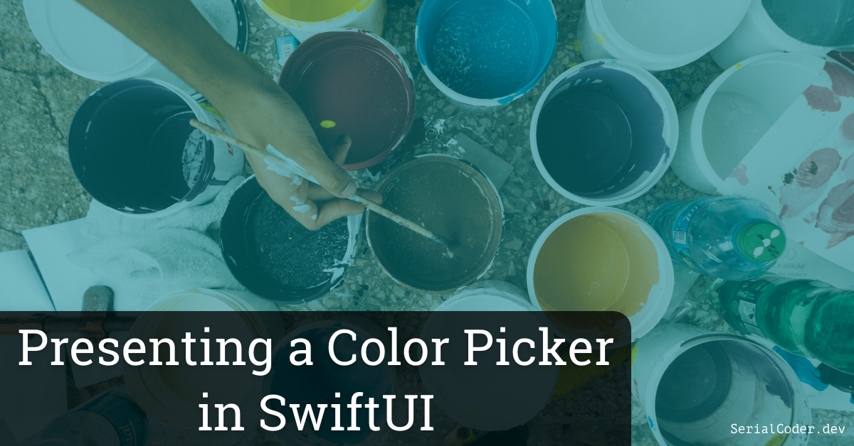 Presenting a Color Picker in SwiftUI